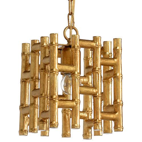 Kyle Pendant, Antiqued Gold