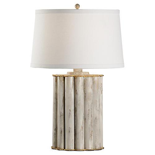 Reidsville Table Lamp, Whitewash/Gold
