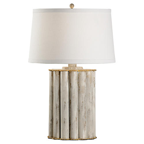 Reidsville Table Lamp, Whitewash/Gold
