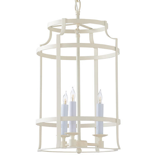 Romney 3-Light Lantern, Matte Cream