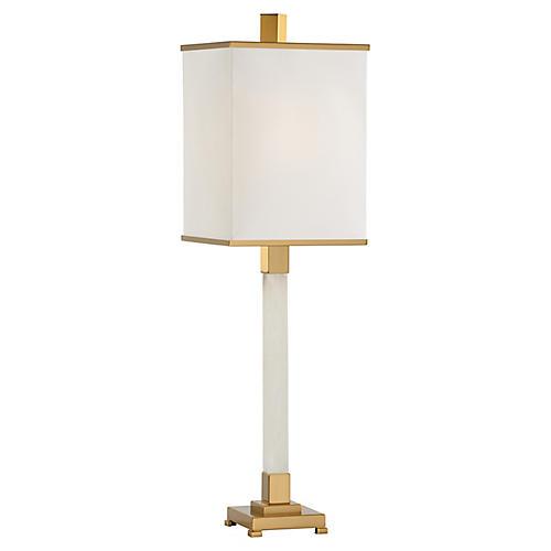 Statesville Table Lamp, White/Coffee Bronze