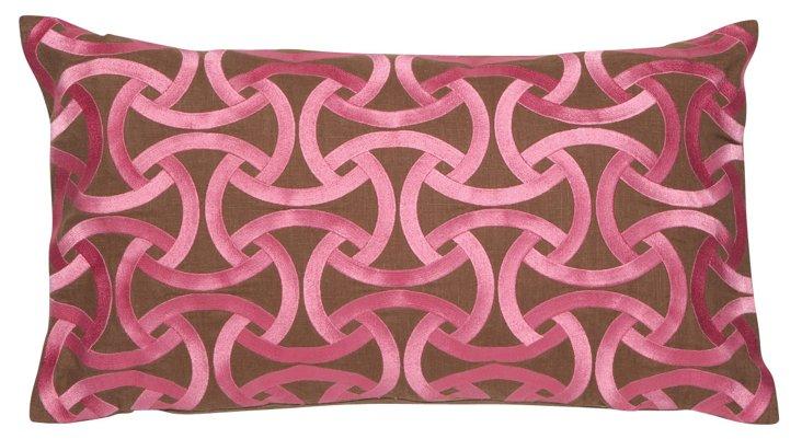 Santorini 14x26 Linen Pillow, Pink