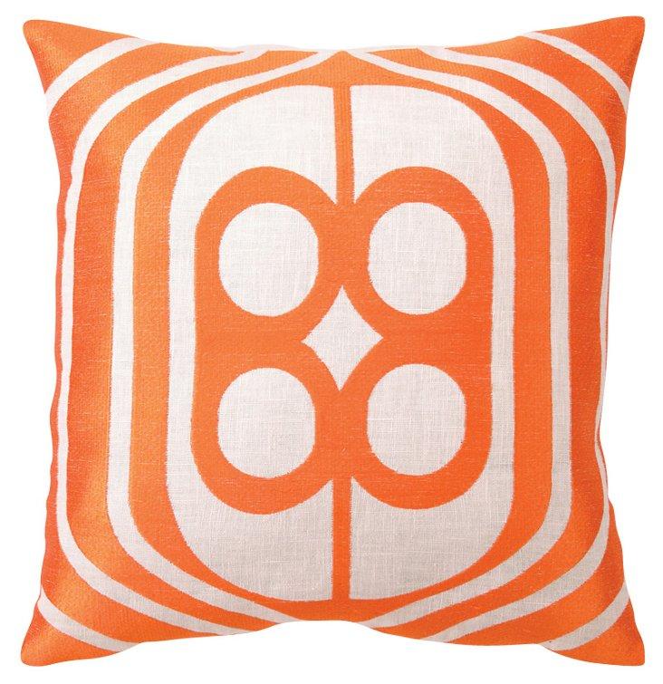 Birdcage 20x20 Pillow, Orange