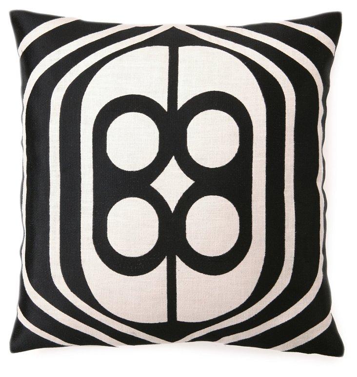 Birdcage 20x20 Pillow, Black