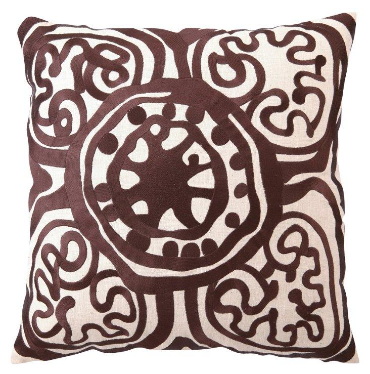 Medallion 20x20 Pillow, Brown