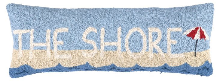 """The Shore"" 9x26 Wool Pillow, Multi"