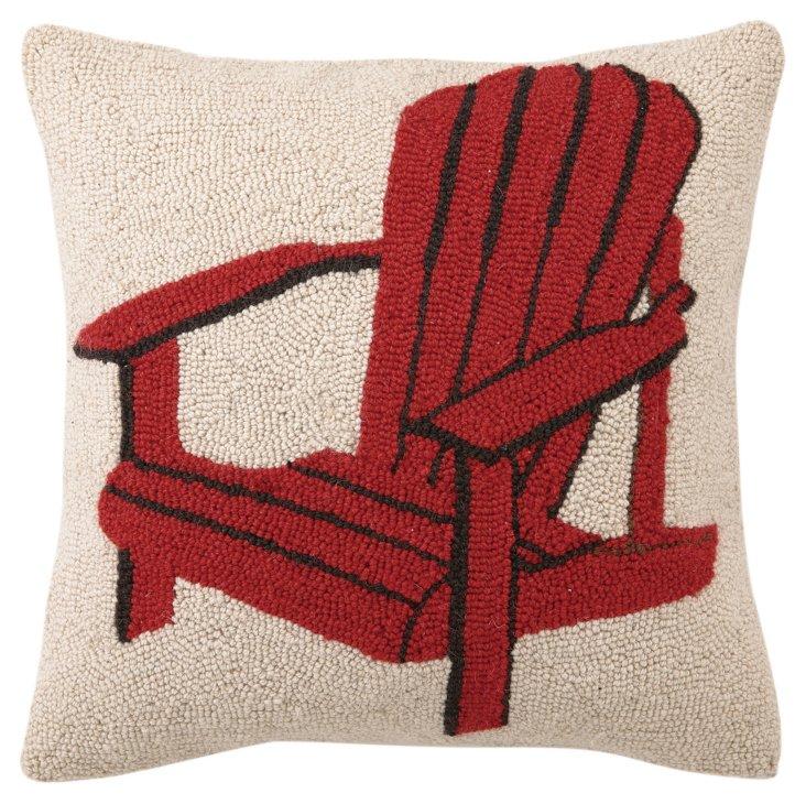Adirondack 18x18 Wool Pillow, Red