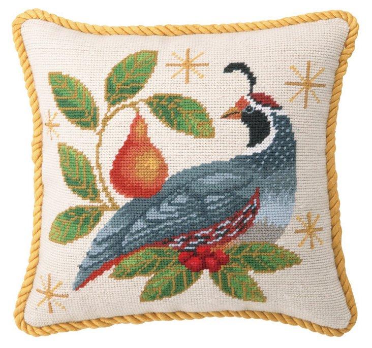 Partridge 12x12 Pillow, Multi