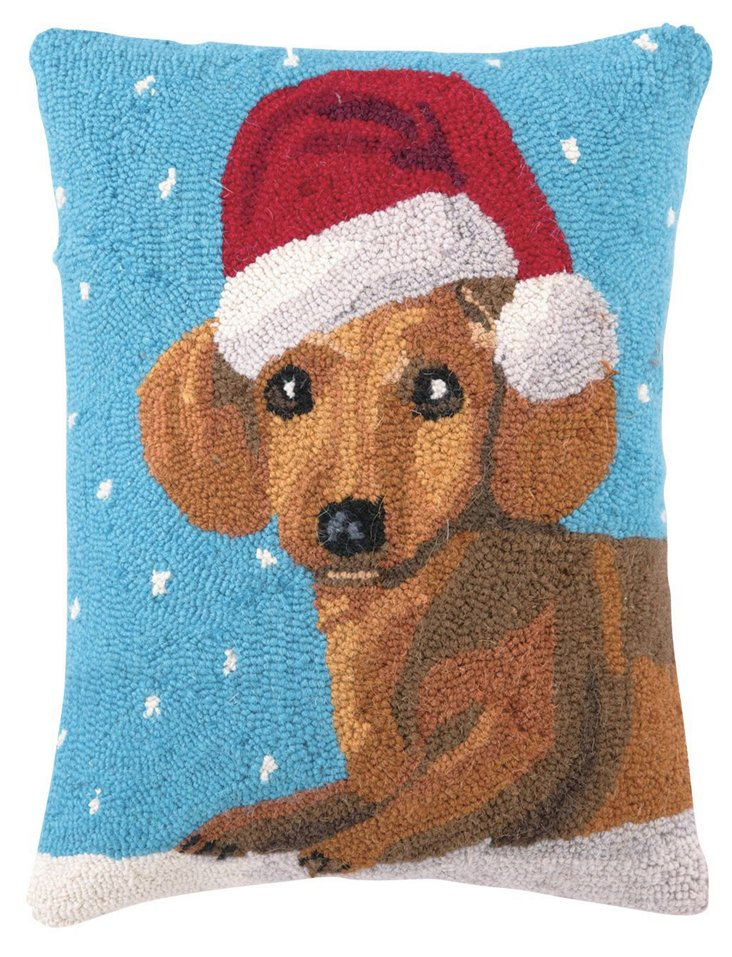 Christmas Dachshund 14x18 Pillow, Multi