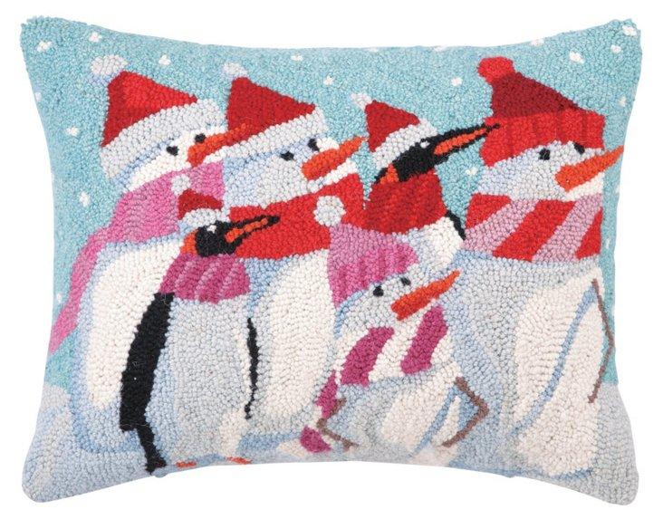 Winter Poseurs 14x18 Pillow, Multi