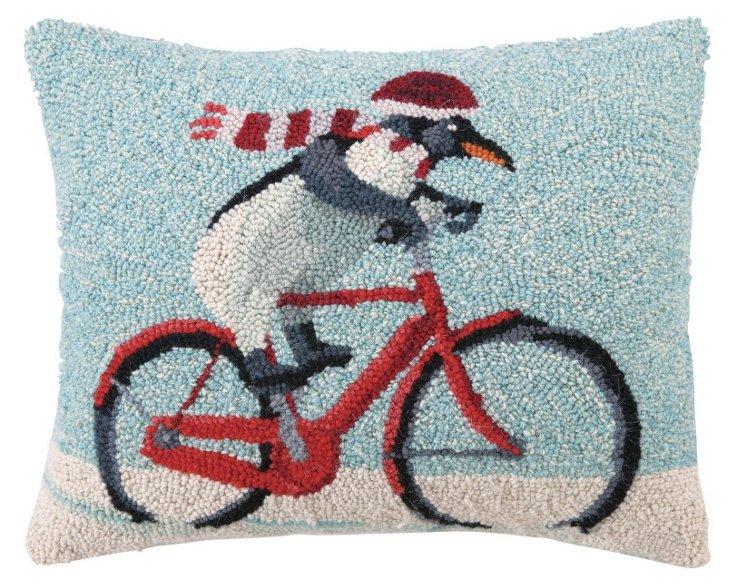 Penguin 16x20 Pillow, Multi