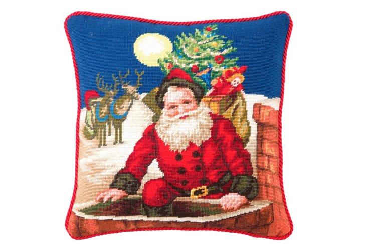 Chimney Santa 16x16 Pillow, Multi