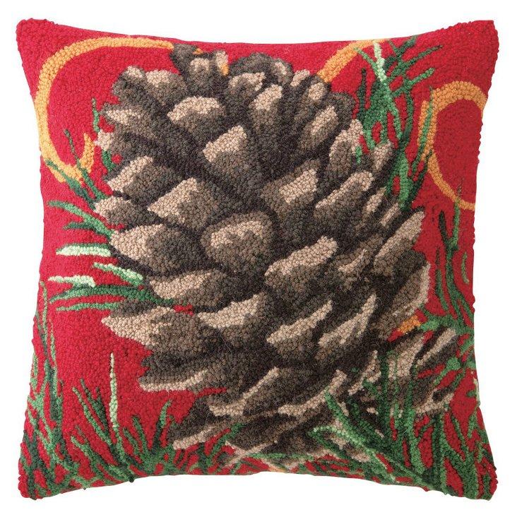 Pinecone 18x18 Pillow, Multi