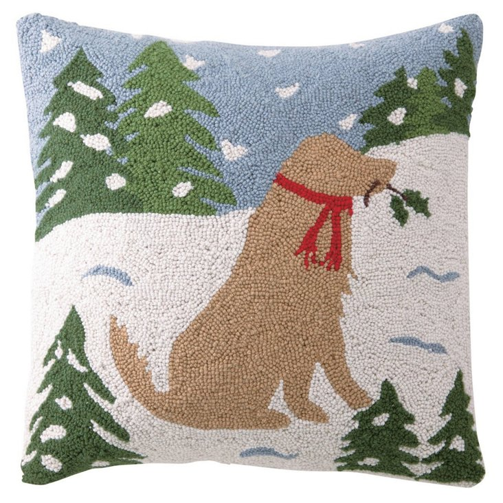 Yellow Lab 18x18 Pillow, Multi
