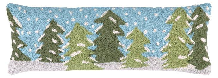 Snowy Trees 9x26 Pillow, Multi