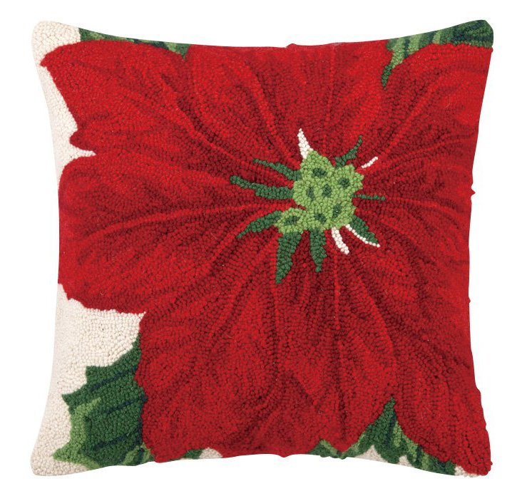 Poinsettia 16x16 Pillow, Multi