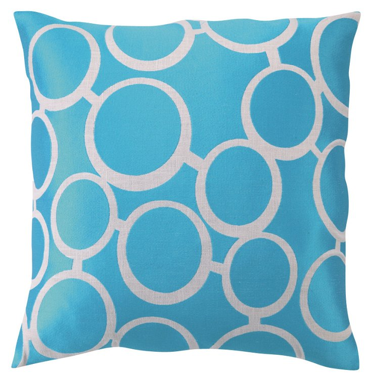 Spectacles 20x20 Linen Pillow, Blue