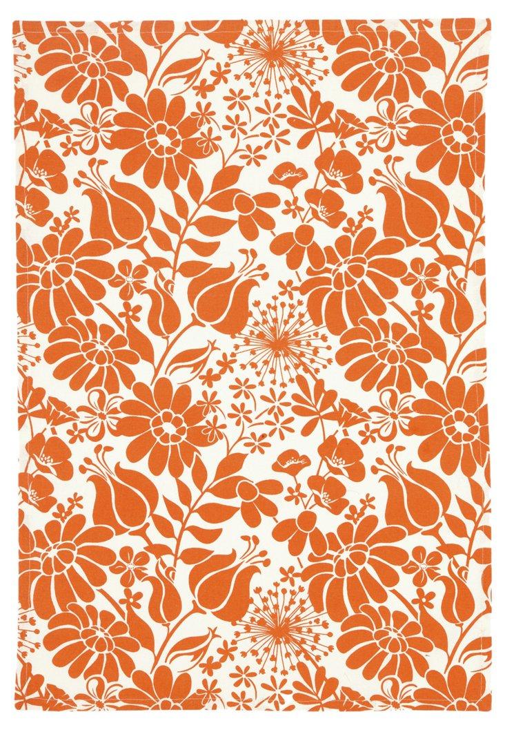 S/2 Central Park Kitchen Towels, Orange
