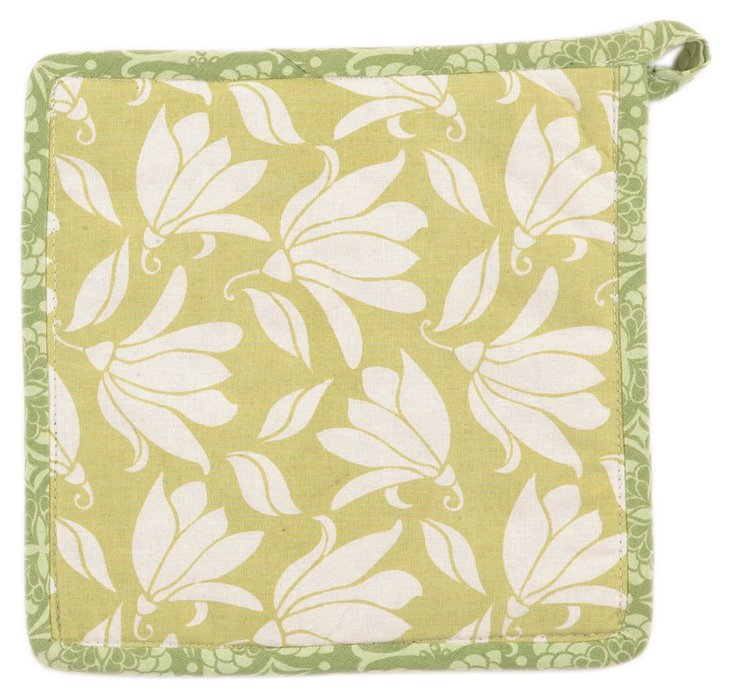S/2 Verna Pot Holders, Green