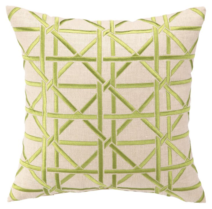 Cane 16x16 Pillow, Green