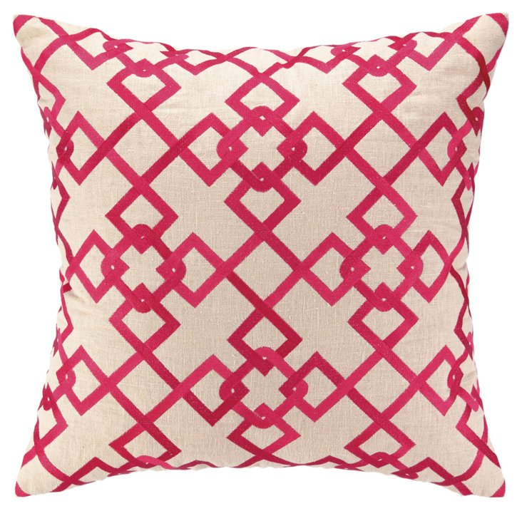 Chain Link 20x20 Pillow, Pink