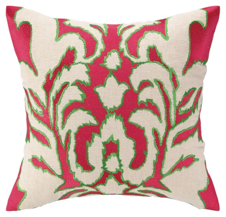 Ikat 16x16 Pillow, Pink