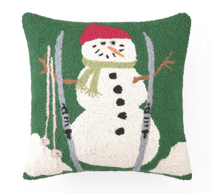 Snowman 18x18 Pillow, Multi