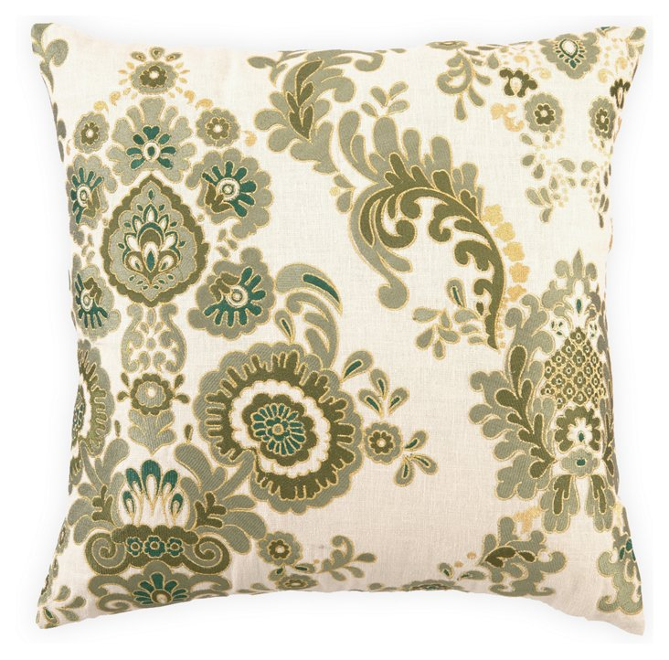 Marseilles 20x20 Linen Pillow, Green