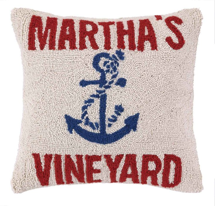 Martha's Vineyard 16x16 Pillow, Blue/Red