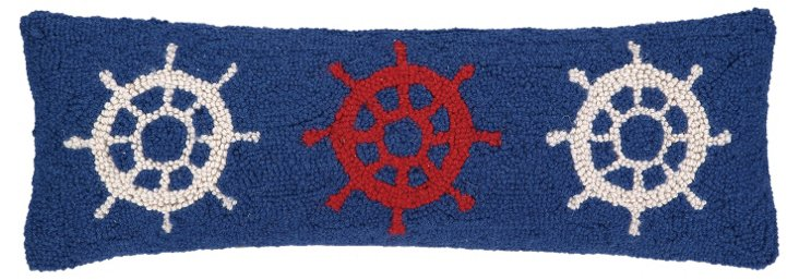 Helm 11x24 Wool Pillow, Navy