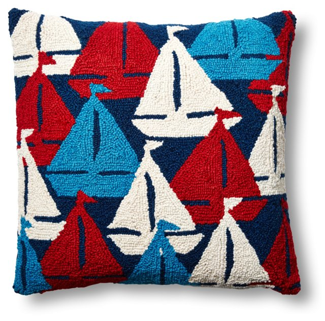 Sailboat 18x18 Wool Pillow
