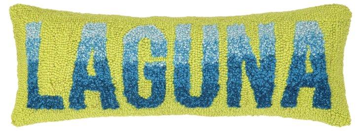 Laguna 11x22 Cotton Pillow, Green