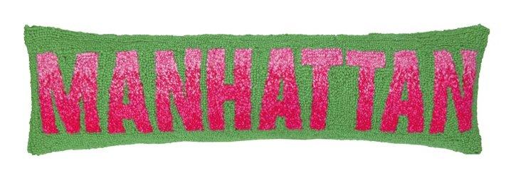 Manhattan 9x30 Cotton Pillow, Green