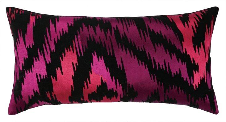 Violet 14x26 Cotton Pillow, Pink
