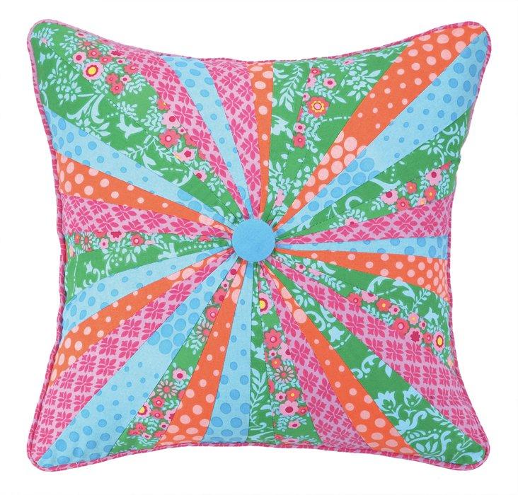 Pinwheel 18x18 Cotton Pillow, Multi