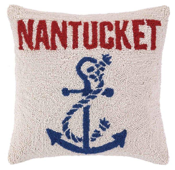 Anchored at Nantucket 16x16 Pillow, Red
