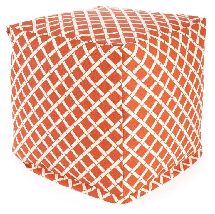 Bamboo Outdoor Cube, Burnt Orange