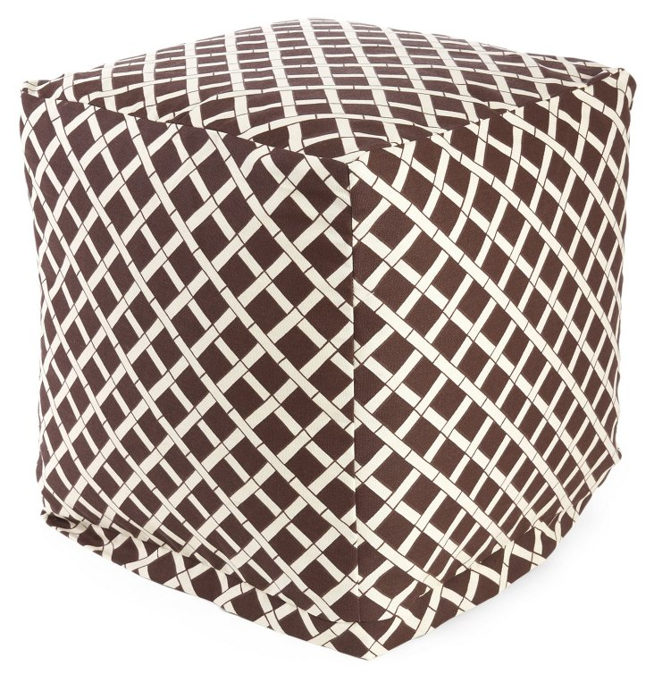 Bamboo Outdoor Cube, Chocolate