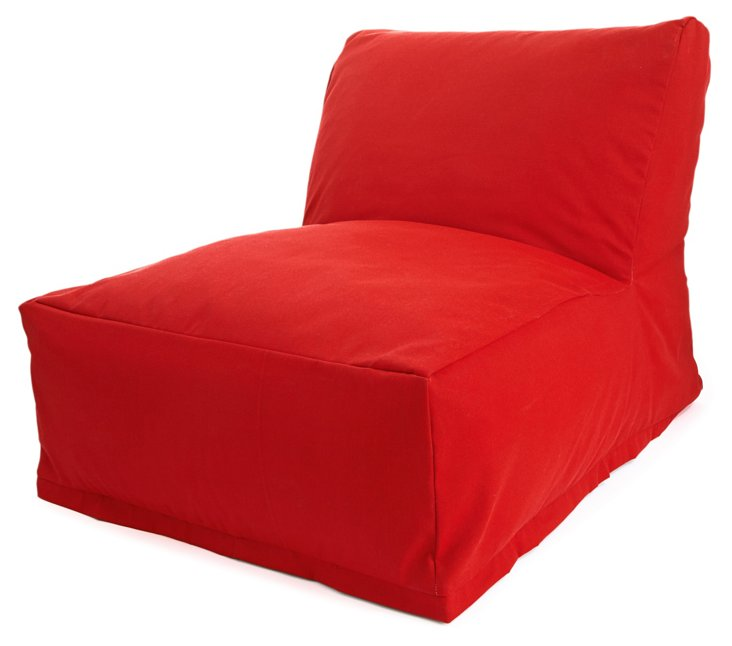 Outdoor Beanbag Chair, Red
