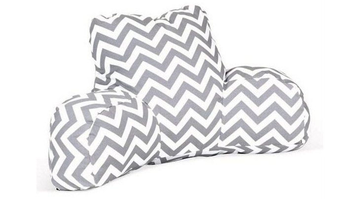 Chevron Boyfriend Pillow, Gray