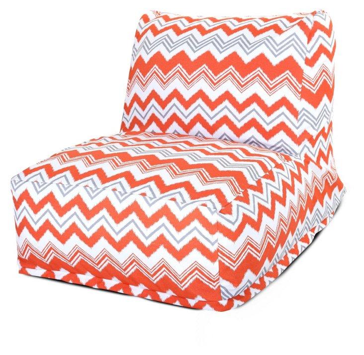 Zigzag Outdoor Beanbag, Orange/Gray