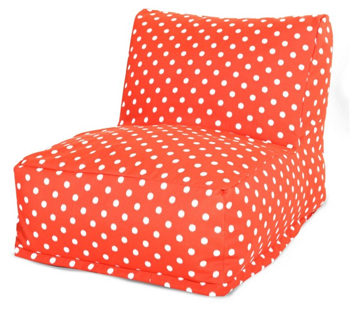 Polka Dot Outdoor Lounger, Orange
