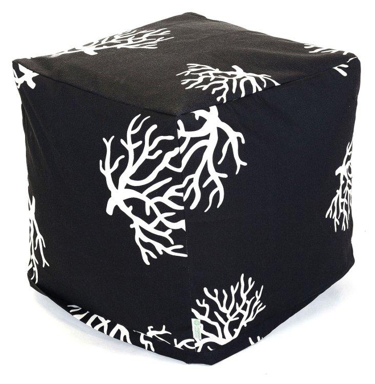 Coral Outdoor Cube, Black