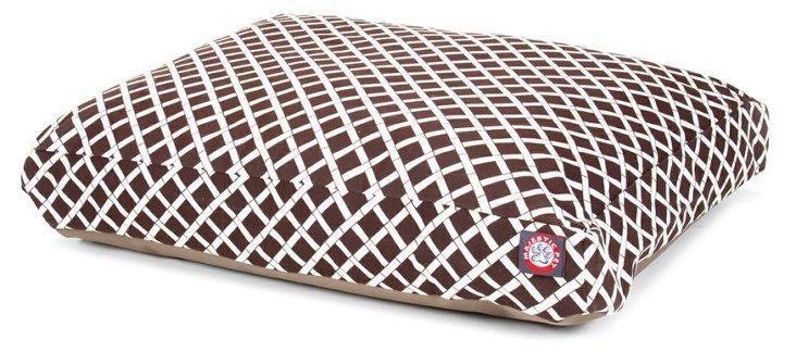 Bamboo Rectangle Pet Bed, Chocolate