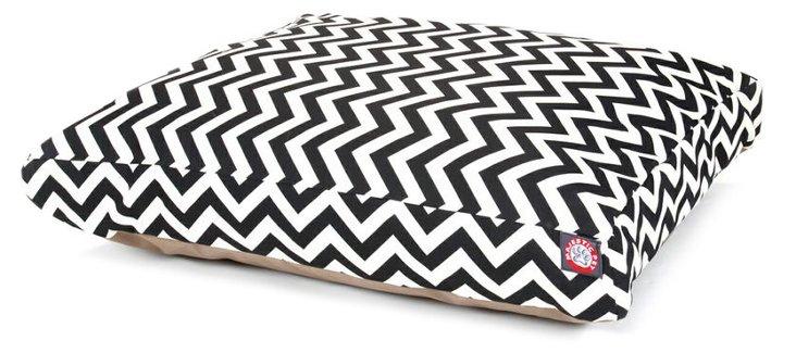 Chevron Rectangle Bed, Black