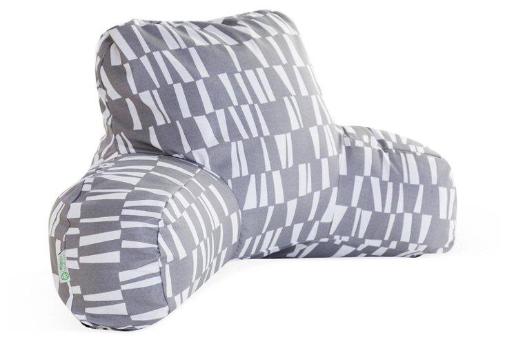 Checkered Boyfriend Pillow, Gray