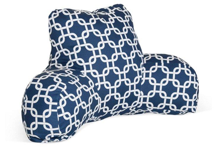 Linked Boyfriend Pillow, Navy Blue