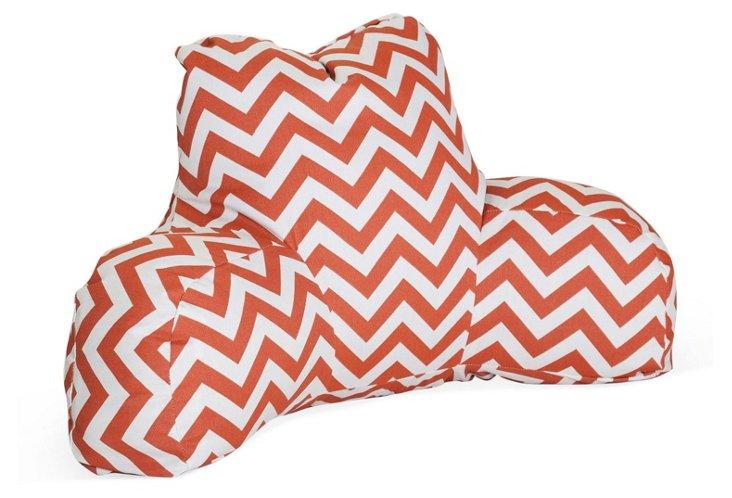 Chevron Outdoor Boyfriend Pillow, Orange