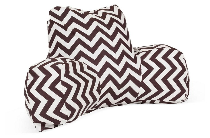 Chevron Outdoor Boyfriend Pillow, Choco