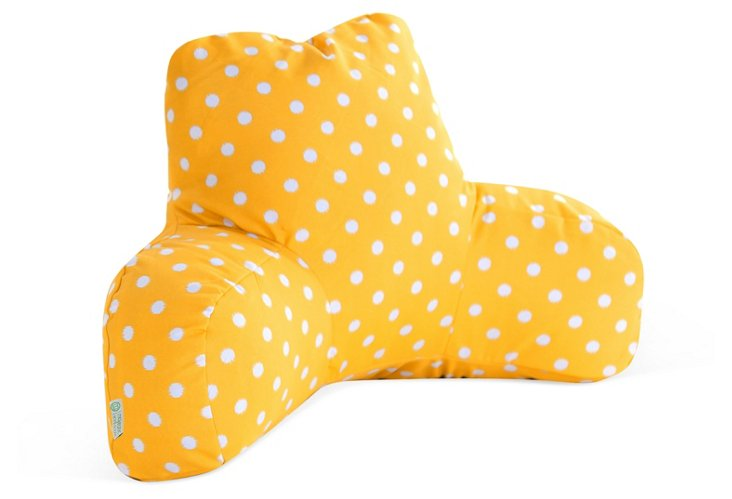 Polka Outdoor Boyfriend Pillow, Yellow